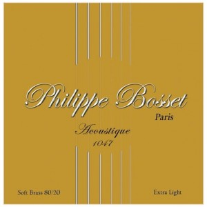 Philippe Bosset Acoustique Soft Brass 10-47 - struny do gitary akustycznej